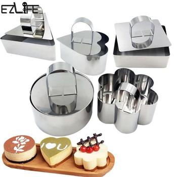1Pcs Stainless Steel Baking Dish DIY Bakeware Tools Cupcake Mold Mousse Ring  Cheese Tools Salad Cake dessert Mould