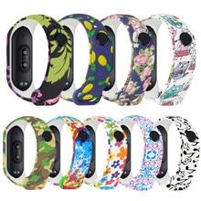 Universal silicone pulseira de pulso para xiaomi miband 3 4 colorido à prova dcolorful água substituição cinta para mi banda 4 3 acessórios inteligentes