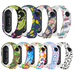 Universal Silicone Wrist Strap for Xiaomi Miband 3 4 Colorful Waterproof Replacement Strap for Mi Band 4 3 Smart Accessories