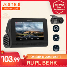Pré-vente 70mai 4K A800S Dash Cam voiture DVR 2021 intelligent DVR intégré GPS avec ADAS UHD Image SONY IMX415 140FOV 24H moniteur de stationnement