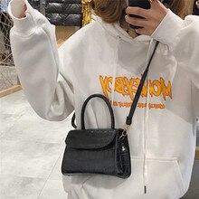 Модная женская сумка через плечо Простые однотонные сумки на плечо застежка для сумки Сумка для телефона сумки новые сумки через плечо