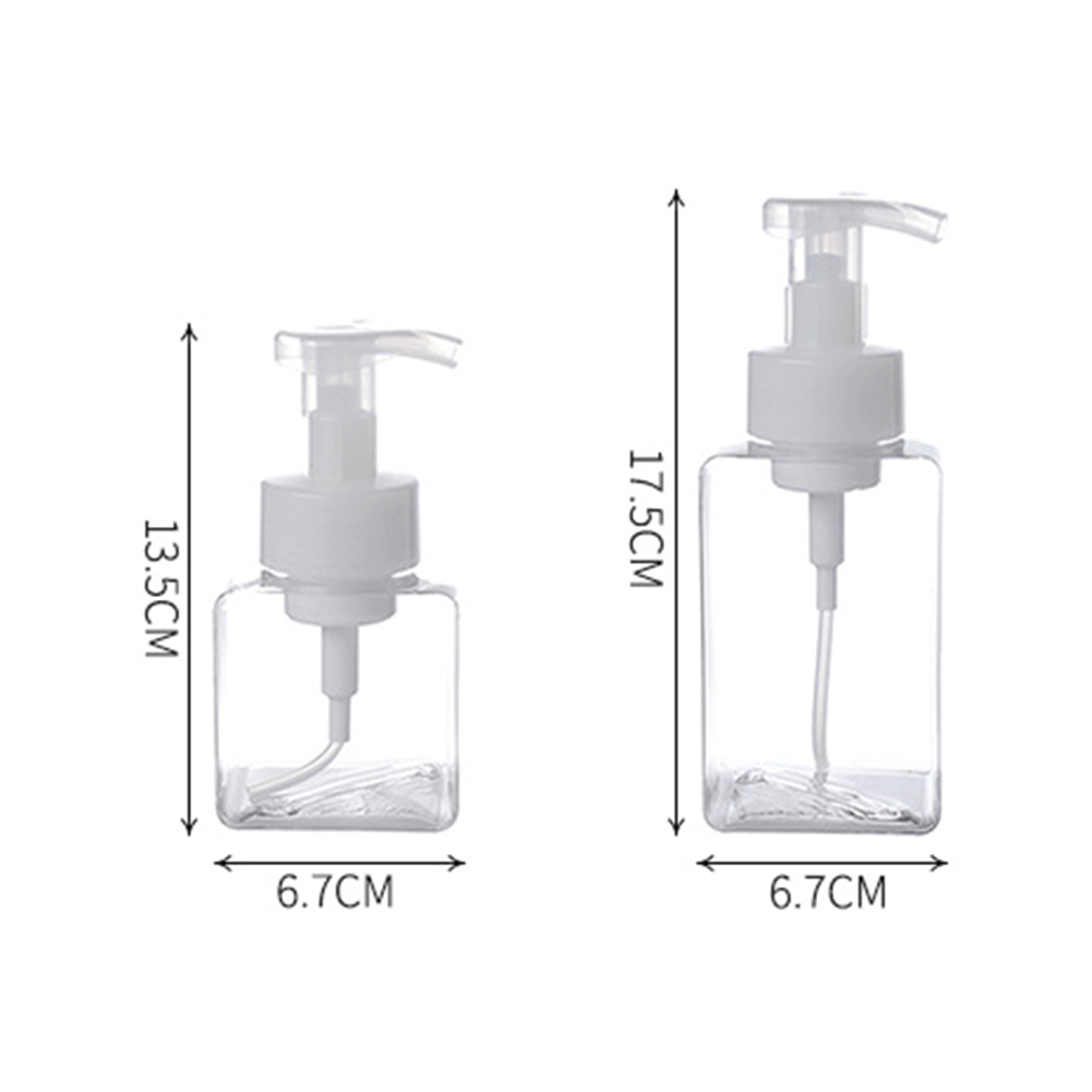 3Pcs 250/400ml Refillable Mousse Foaming Bottle Lotion Shampoo Press Pump Hand Sanitizer Dispenser Push-on Facial Foamer Bubbler