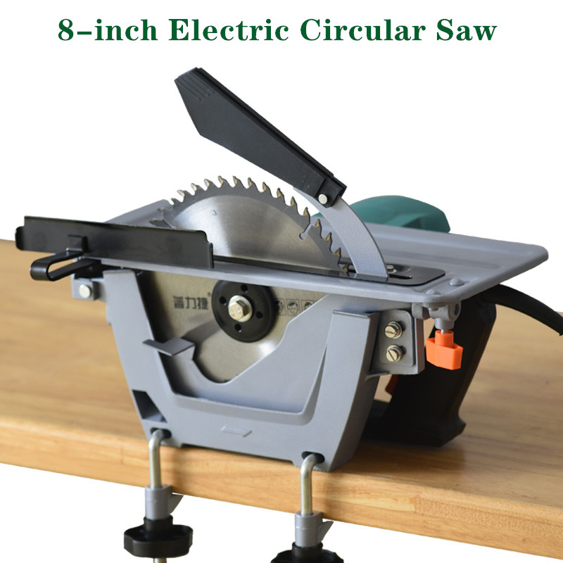 8 inch Household Hand held Woodworking Saw Electric Circular Saw Reversed Electric Table Saw Disc Saw Cutting  Machine|Wood Routers| |  - title=