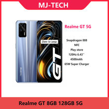 Estoque! realme gt 8gb 128gb 5g telefone móvel 6.43