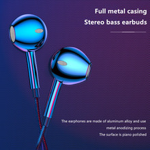 OwnFone X7 Full Metal Wired Headset Bass Music Earbuds 3.5mm Android Ios Universal In-ear With Microphone Gaming Earphone