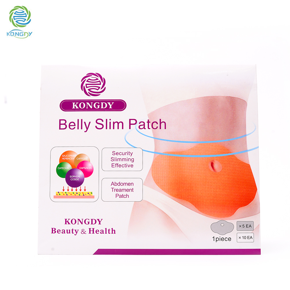 KONGDY Hot Sell 5 Pieces/ Box Slimming Patch KONGDY New Belly Abdomen Weight Loss Fat Burning Slim Patch 100 Natural Ingredients
