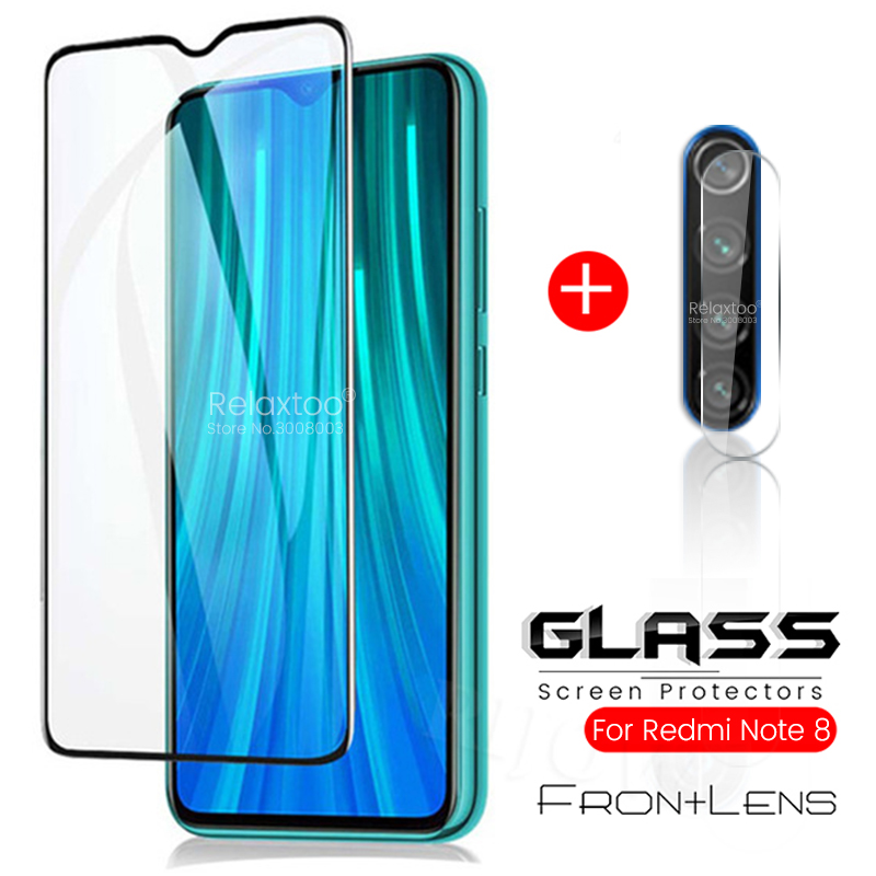 2in1 Protective Glass On Redmi Note 7 8 Pro Camera Glass For Xiaomi Redmi Note 8t 8 T Note8t Note8 Pro Note7 Phone Screen Film
