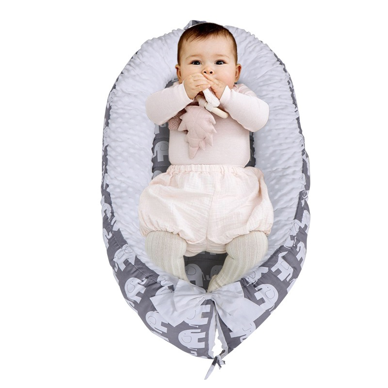 80*50cm Baby Nest Bed Portable Crib Travel Bed Infant Toddler Cotton Cradle Newborn Baby Bassinet Bumper
