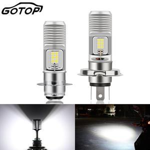 Image 1 - Bombilla LED para faro delantero de motocicleta, 1200lm, superbrillante, blanca, 6000K, alta/Baja, H4, P15D HS1, 1 Uds.