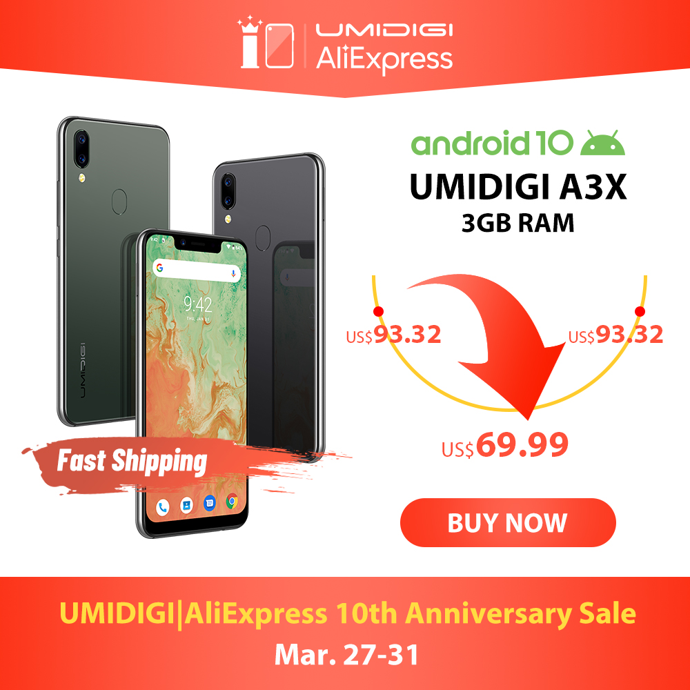 UMIDIGI A3X Android 10 Global Version 3GB RAM 5.7