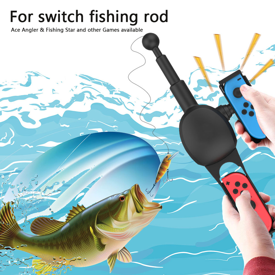 Fishing Rod For Nintendo Switch Joy Con Accessories Fishing Game Kit For Ace Angler Bass Pro Shops Power Tool Accessories Aliexpress
