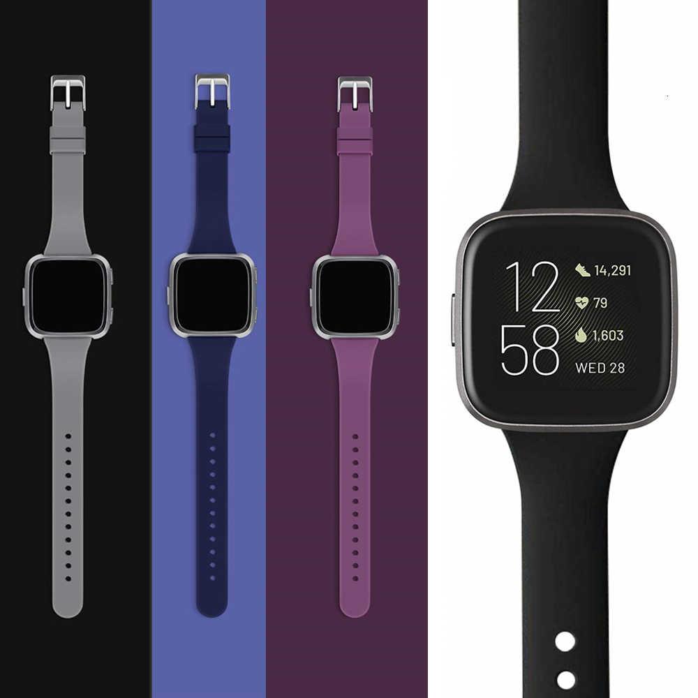 Bracelet de remplacement pour Fitbit Versa 2 bandes Silicone mince mince étroit remplacement montre Starp pour Fitbit Versa/Versa 2 femmes hommes