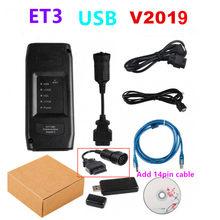 Véritable V2019 ET3 Adaptateur 3 III ET-3 2019A WIFI Outil De Diagnostic De Camion ET 3 2019 Pour chat ET3 Communication 317-7485 CAT3