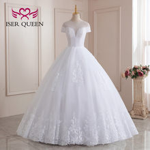 South American Style Wedding Dresses 2021 New Sheer Neck Illusion Embroidery Pearls Beaded Pure White Wedding Gown Brazil WX0208