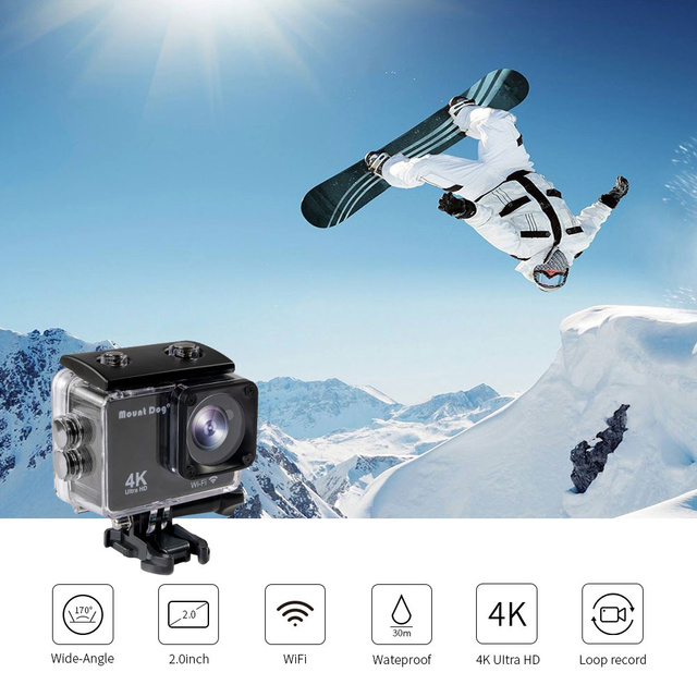 MountDog Underwater Ultra HD 4K Action Camera With WiFi Sports Video Recoding Waterproof Action Cam 2