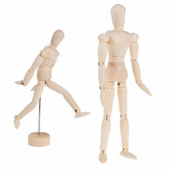 Súper grande 16 pulgadas nuevas extremidades móviles del artista MODELO DE figura de juguete masculino de madera maniquí Bjd boceto de arte dibujar figuras de juguete de acción