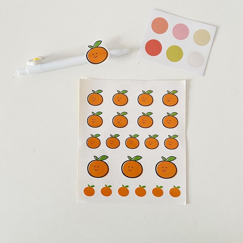 20Pcs/Lot Cartoon Smile Orange Korea Ins Sticker DIY Scrapbooking Album Diary Label Decoration Stickers