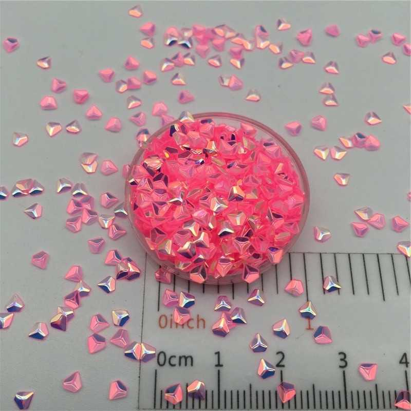 30 גרם\חבילה 3mm 3D יהלום פאייטים נצנצים Paillettes עבור DIY נייל קרפט, רפש ביצוע, חתונת קישוט קונפטי סיטונאי
