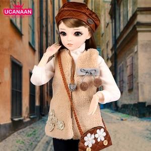 UCanaan/60 см похожая на настоящую Мода девушка куклы 1/3 Bjd кукла большой Ручной работы 18 шарнирные кукла с полным набором детские игрушки подарк...
