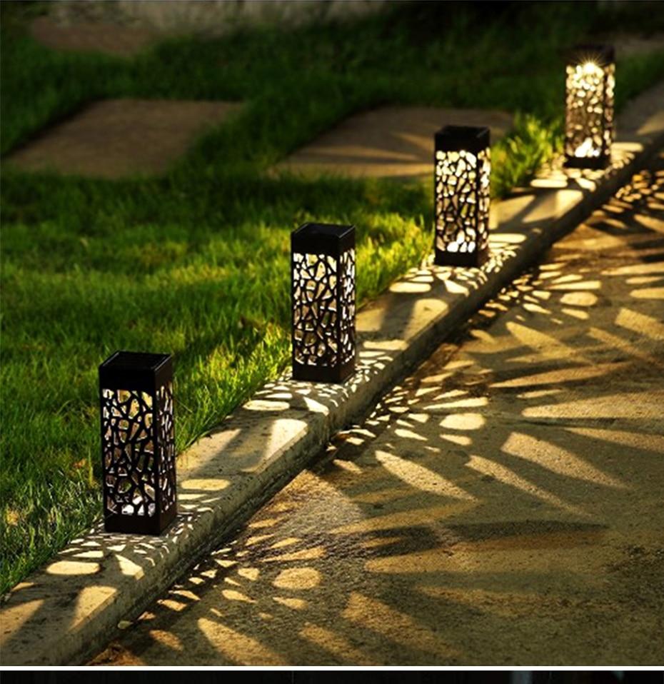 Solar Garden Pathway Lights Lawn Lamp