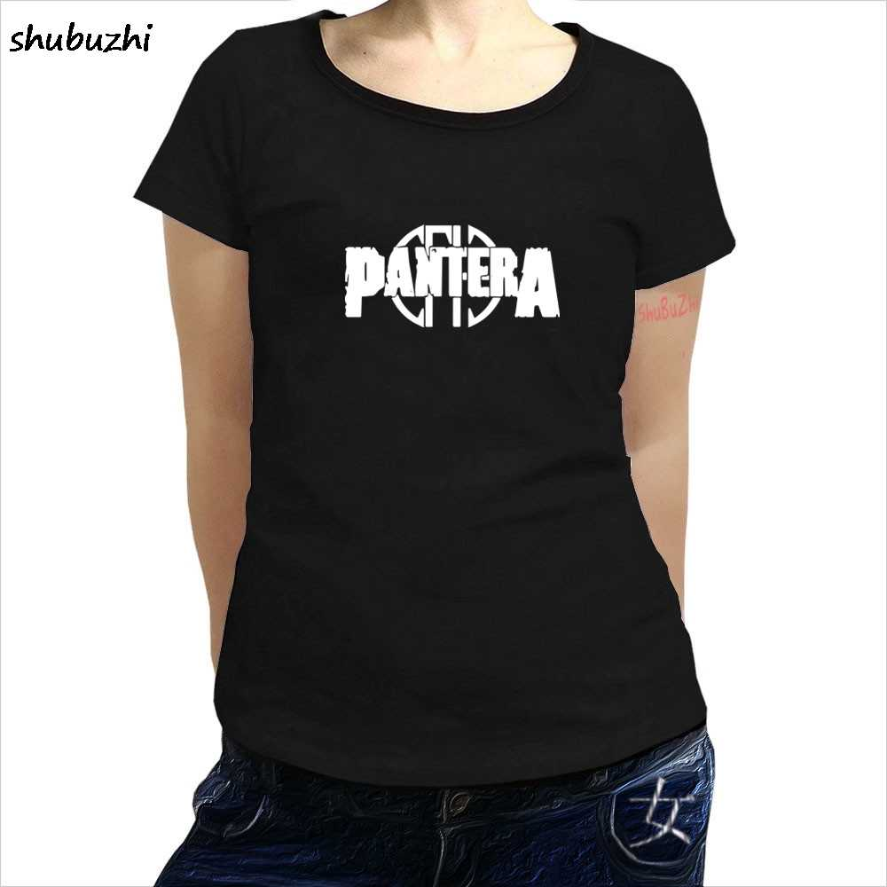 Pantera Logo T-shirt Amerikaanse Heavy Metal Rock Band Gratis Verzending Vrouwen Zomer Korte Mouwen T-shirt Anime Sbz4221