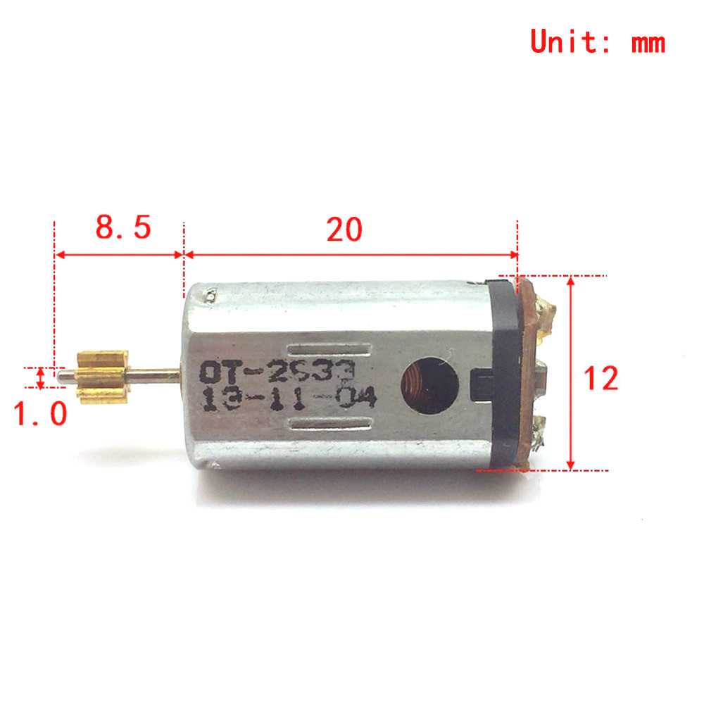 Mini 10mm FF-M20 DC 3V 3.7V 26000RPM High Speed Strong NdFeB Magnetic M20 Motor