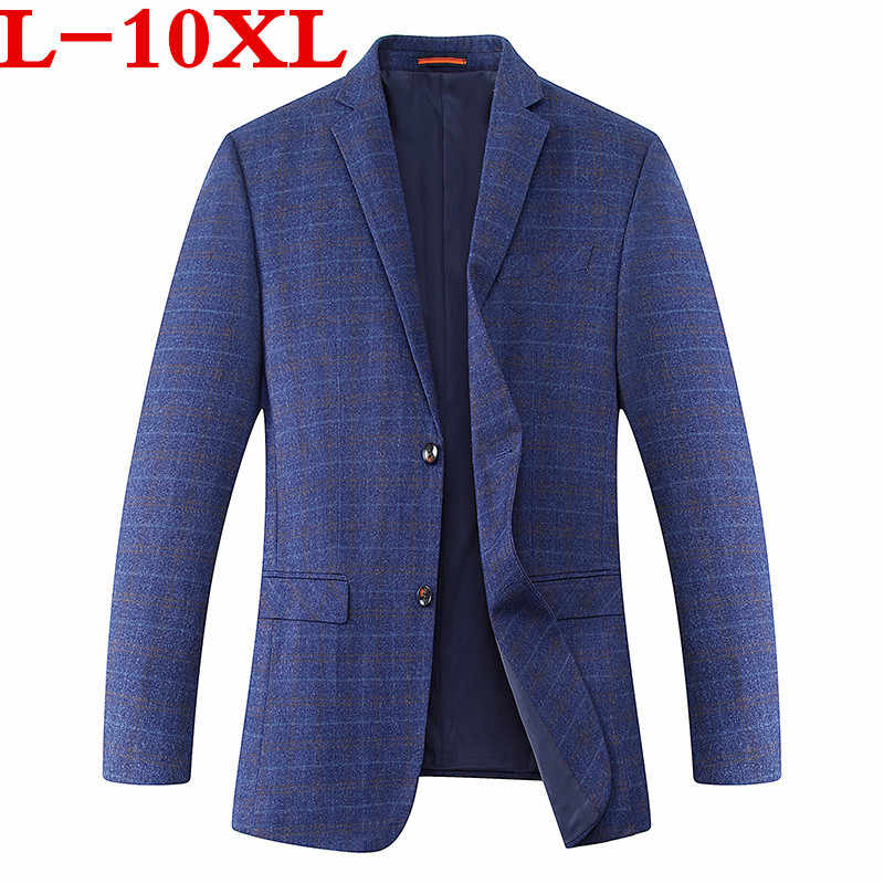 Plus Size 10XL 9xl 8XL 7XL 6XL Nieuwe Collectie Herfst En Winter Mannen Pak Jas Mode Slim Fit Brazer casual Blazers Mannen