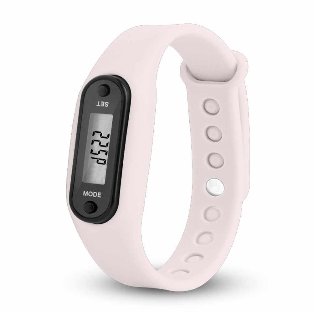 נשים שעון אופנה שלב הפעלת שעון צמיד מד צעדים קלוריות דלפק דיגיטלי Lcd מרחק הליכה גבירותיי שעון часы женские