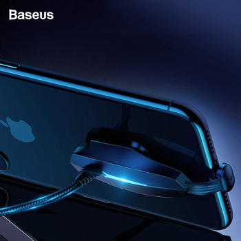 Baseus USB Cable For iPhone Xs Max Xr X 8 7 Plus Fast Charging USB Type C Cable USB-C Suction Cup Gaming Cord For Huawei Xiaomi