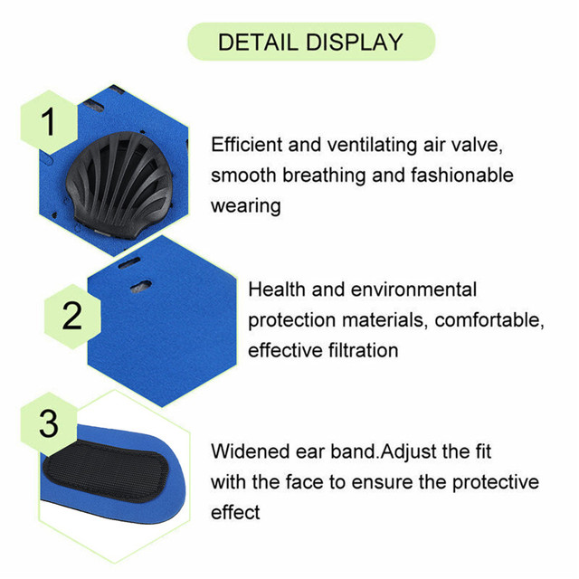 PM2.5 Mask Half Mouth Masks Anti Pollution Dust With 5-Layer Air Filter Bike Cycling Mouth-muffle Bacteria Proof Flu Face Masks 4