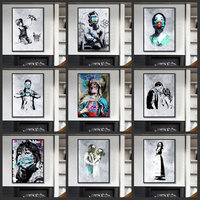 Abstract Wall Art Graffiti Paintings Printed on Canvas 1