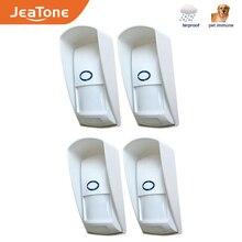 Jeatone 433mhz sem fio pir sensor infravermelho detector de movimento ao ar livre com pet imune à prova dwaterproof água para o sistema de alarme de segurança em casa