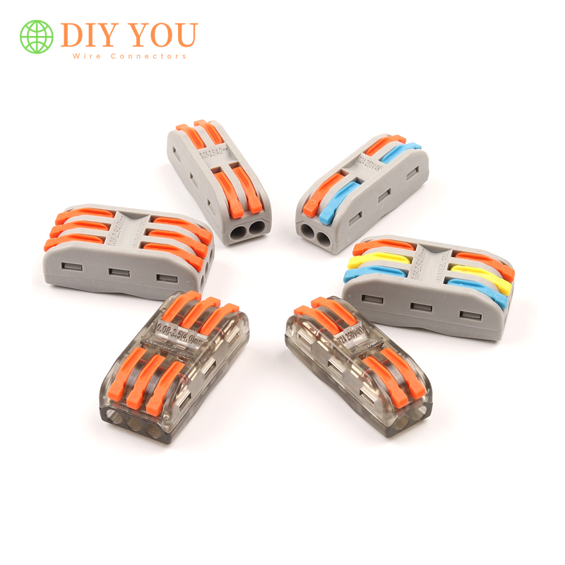 10/30/50/100PCS SPL-2 3 Pin Docking TYPE Quick Wire Connector Universal Plug-in Terminal Block Home Led Light Electric Connector