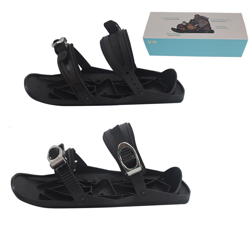 Mini Snow Ski Skates For Skiing Snowshoes Adjustable Bindings Separated Short Skiboard Snowblades For Women Men Adults WIth Box