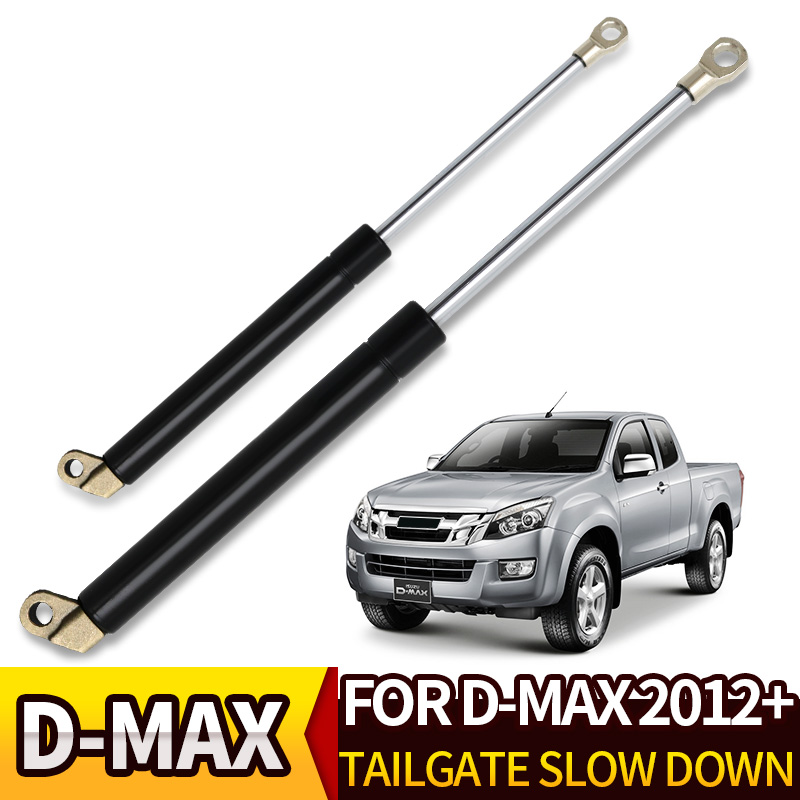 JZYLOVE JINZHIYANG Rear Gate Tailgate Strut Shock Fit For Isuzu DMAX 2012-2019 Stainless Steel Gas Easy Slow Down Fit For D-Max