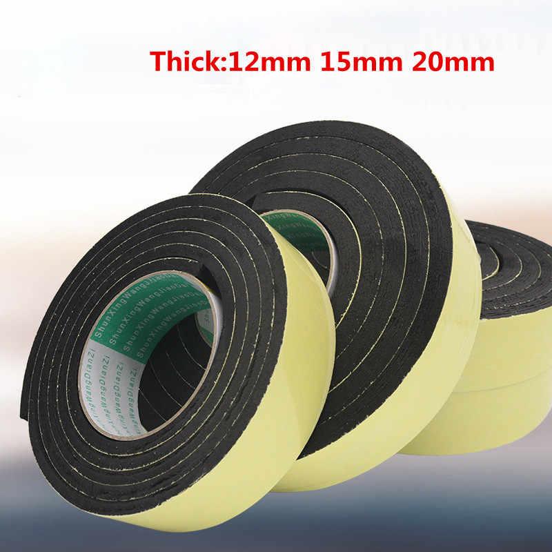 negro cinta de sellado de espuma de alta densidad Cinta de espuma EVA cinta de espuma de una sola cara tiras de espuma adhesiva impermeable