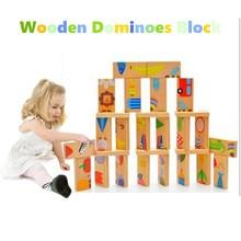 Jigsaw-Tangram Dominoes-Block Cute Educational-Toys Wooden Animal Baby Colored Children