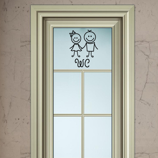 Cartoon WC Door Stickers 8