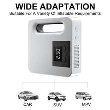 Воздушный насос для автомобильных шин с большим экраном портативный