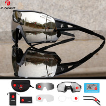 X-TIGER Cycling Glasses Polarized Bicycle Mountain 3 Lens Sunglasses Men's Women Running Fishing Photochromic Cycling Glasses