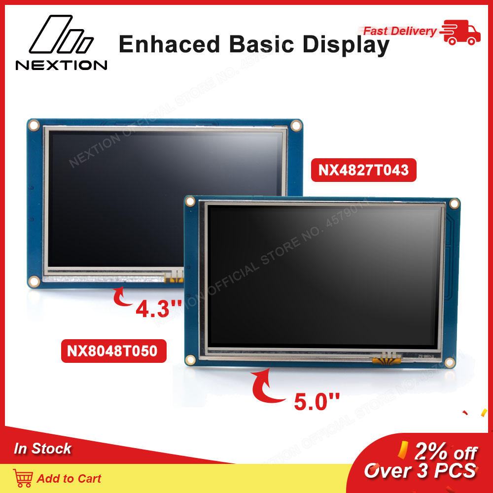 """Nextion Lcd Touch Basic Display NX4827T043/NX8048T050 - 4.3 """"5.0"""" Tft Intelligente Resistive Touch Screen Module Display"""
