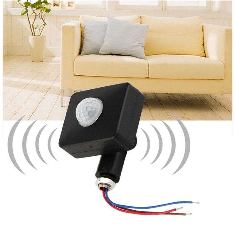 Hohe Qualität Automatische 10M 12M PIR 85-265V Sicherheit PIR Infrarot Motion Sensor Detektor Wand LED licht Im Freien 160 Grad