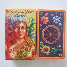 new Tarot deck oracles cards mysterious divination wheel of year tarot cards for women girls cards game board game