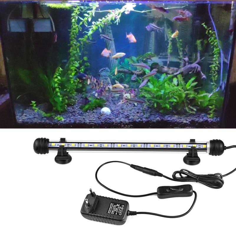19/29/39/49CM Marine Aquarium LED Lighting Waterproof Lamp Fish Tank Lights Pecera Iluminacion RGB Aquarium LED Bar Light