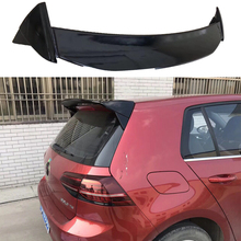 цена на Roof Wing Aspec style for Golf7 MK7 MK7.5 Car Styling ABS Plastic Mater Rear lip Spoiler for Golf 7 2014 - UP