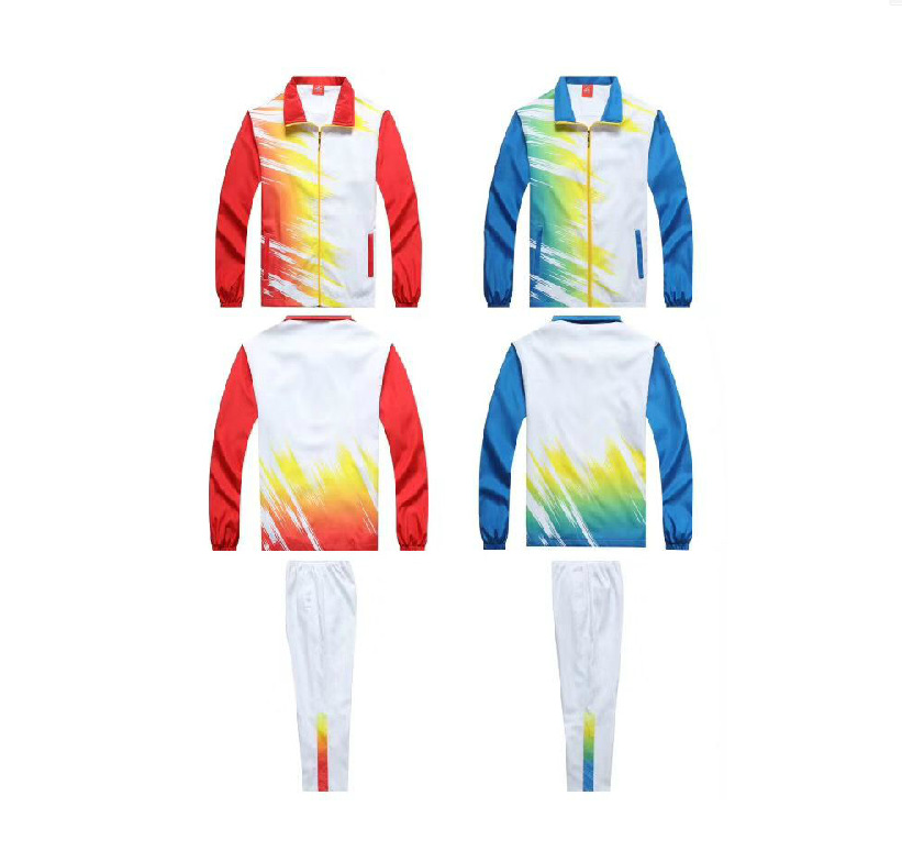 Two-Piece Set Square Dance Long Sleeve Sports Middle-aged Spring And Autumn Set Groups Fitness Exercise Square Dance Clothing Sc