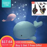 Beiens Nacht Lichter für Kid Star Sky Projektor Spielzeug Baby Musikalische Mobilen Licht USB Lade Bluetooth Fernbedienung Geburtstag Geschenk