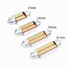1 Pc Auto Interieur Doom Lamp Auto Styling Licht Festoen 31 Mm/36 Mm/39 Mm/42mm Led Lamp Super Heldere 4014 Smd Auto Accessoires(China)