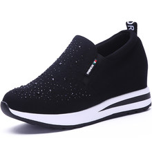 High Heel Women Shoes 2019 Women Casual Shoes Breathable Fashion Rhinestone Wedges Platform Shoes Women Sneaker A0-79(China)