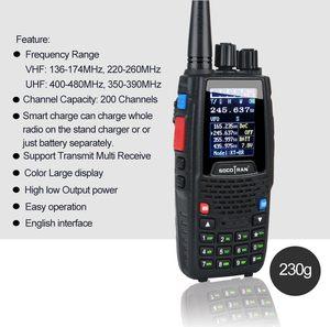 Image 4 - رباعية الفرقة اسلكية تخاطب UHF VHF 136 147Mhz 400 470mhz 220 270mhz 350 390mhz 4 الفرقة يده اتجاهين راديو هام جهاز الإرسال والاستقبال KT 8R